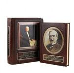 Книга в кожаном переплете и подарочном коробе. Мемуары американского миллиардера Дж. Д. Рокфеллера