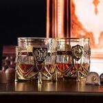 Подарочный набор с 2-мя бокалами и камнями для виски в деревянной шкатулке. СССР и Россия