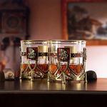 Подарочный набор с 2-мя бокалами и камнями для виски в деревянной шкатулке. Георгий Победоносец