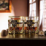 Подарочный набор с 2-мя бокалами и камнями для виски в деревянной шкатулке. Россия
