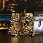 Подарочный набор с бокалом и камнями для виски в деревянной шкатулке. Настоящиймужчина