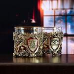 Подарочный набор с 2-мя бокалами и камнями для виски в деревянной шкатулке. Настоящий Мужчина и Юбилей 75 лет