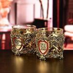 Подарочный набор с 2-мя бокалами и камнями для виски в деревянной шкатулке. Настоящий Мужчина и Юбилей 60 лет