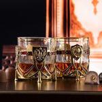 Подарочный набор с 2-мя бокалами и камнями для виски. СССР и Россия