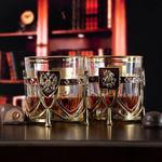 Подарочный набор с 2-мя бокалами и камнями для виски. Россия и Георгий Победоносец