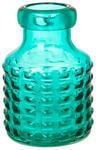 Подарочная стелянная ваза. Голубая (20*15*15 см)
