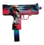 """Деревянное оружие Counter-Strike. Пистолет- пулемет резинкострел MAC-10 """"Неоновый гонщик"""""""