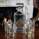 Подарочный набор для водки в деревянной шкатулке (7 предметов). Любимому Мужу