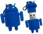 Подарочная флешка. Андроид (цвет синий)