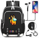 Рюкзак с USB-портом для зарядки и разъемом для наушников. Amoug Us. Покемон