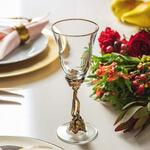 Бокал для вина (латунь/стекло) в подарочной коробке. Романтик