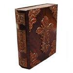 Подарочная книга в кожаном переплете. Библия (в коробе иконостас-складень)