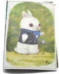 Кожаная обложка на паспорт. Заяц