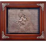 Деревянная ключница настенная. Знаки Зодиака. Близнецы (29 х 34 см)