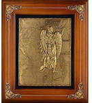 Деревянная ключница настенная. Знаки Зодиака. Дева (29 х 34 см)