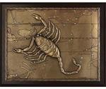 Панно из металла на стену. Знаки Зодиака. Скорпион (25 х 20 см)