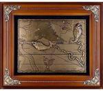 Панно из металла на стену. Знаки Зодиака. Рыбы (34 x 29 см)