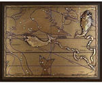 Панно из металла на стену. Знаки Зодиака. Рыбы (малое)