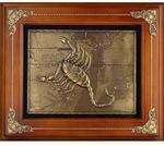 Панно из металла на стену. Знаки Зодиака. Скорпион