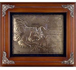 Панно из металла на стену. Знаки Зодиака. Телец (34 x 29 см)