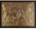 Панно из металла на стену. Знаки Зодиака. Телец (25 х 20 см)