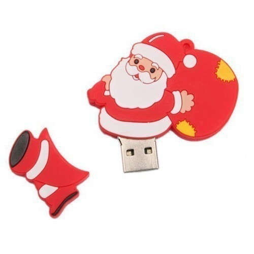 Подарочная флешка. Дед Мороз с мешком подарков (фото, вид 1)