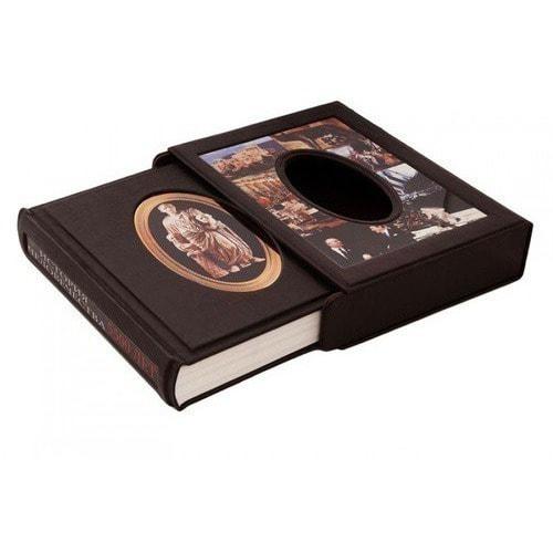Подарочная книга в кожаном переплете. История человечества (в футляре) (фото, вид 1)