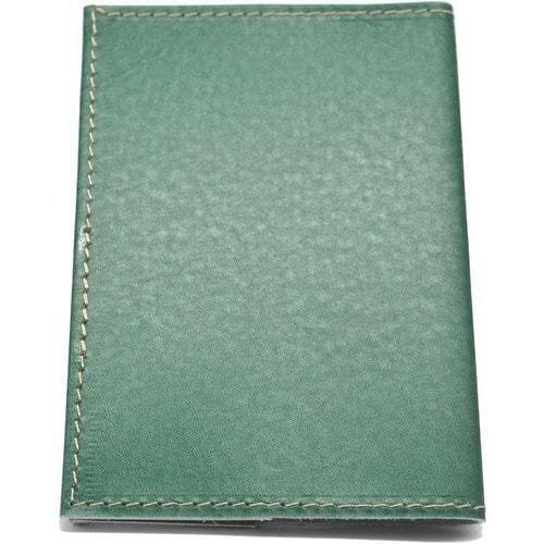 Кожаная обложка на паспорт. Домик у водопада (фото, вид 3)