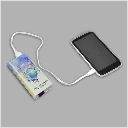 """Подарочный внешний аккумулятор """"Записная книжка энергетика"""" (4000 mAh) (фото, вид 1)"""