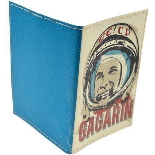 Кожаная обложка на паспорт. Юрий Гагарин (фото, вид 5)