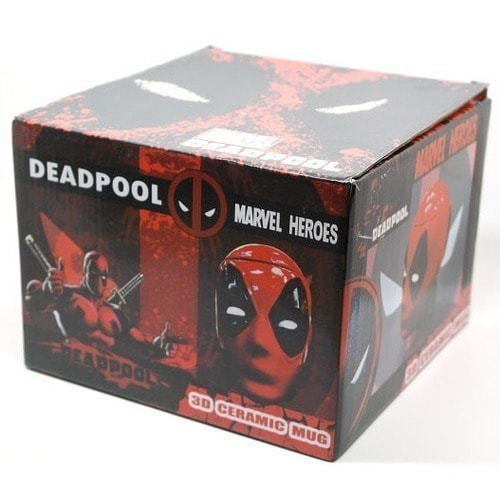 Подарочная 3D керамическая кружка Супергерои. Дэдпул (Deadpool) (фото, вид 14)
