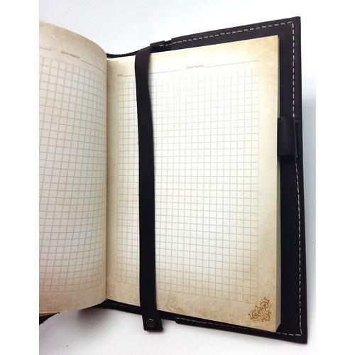 Подарочный ежедневник в кожаной обложке. Медицина - 2 (цвет черный) (фото, вид 1)