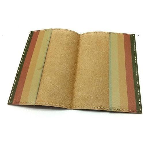 Кожаная обложка на паспорт. Цветной кот (фото, вид 3)