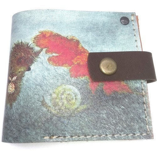 Кожаный кошелек. Ежик в тумане и улитка (фото, вид 1)