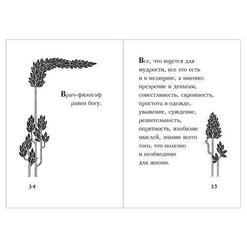Подарочный набор с миниатюрной книгой в кожаном переплете. Гиппократ «Мысли великого врача» (фото, вид 4)