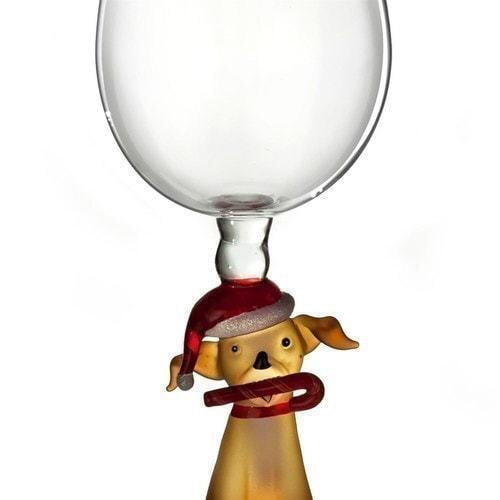 """Бокал для вина из стекла ручной работы. """"Собака в колпаке"""" (фото, вид 1)"""