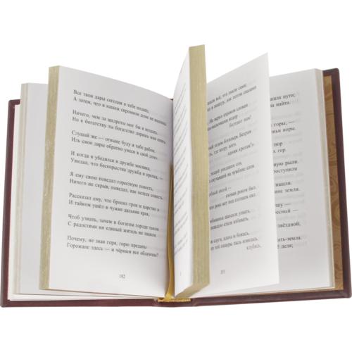 Миниатюрная книга в кожаном переплете. Персидские поэты 10-15 веков в 3-х томах (в коробе) (фото, вид 2)