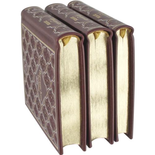 Миниатюрная книга в кожаном переплете. Персидские поэты 10-15 веков в 3-х томах (в коробе) (фото, вид 5)