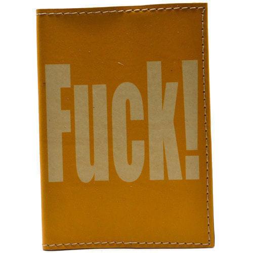 Кожаная обложка на паспорт. 18+ (цвет желтый) (фото, вид 1)