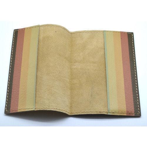 Кожаная обложка на паспорт. Кафе у моря (фото, вид 3)