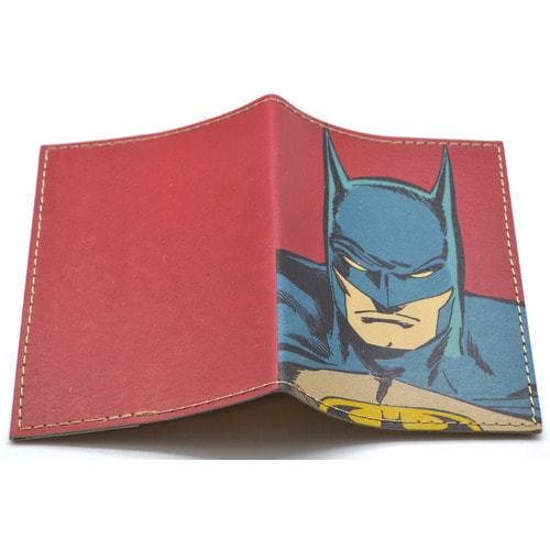Кожаная обложка на паспорт. Супергерои. Бэтмен (фото, вид 1)