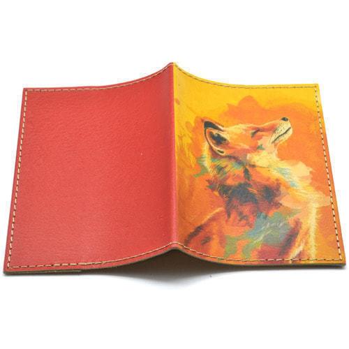 Кожаная обложка на паспорт. Лиса (фото, вид 1)