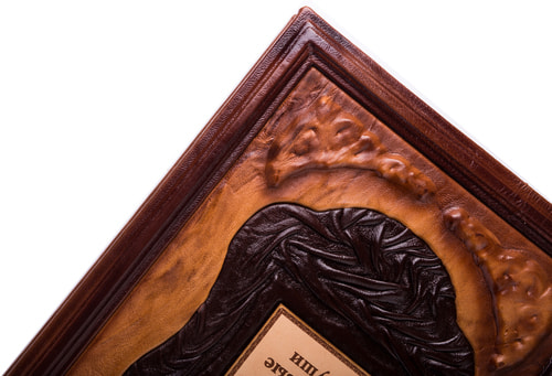 Подарочная книга в кожаном переплете. Гоголь Н.В. Мертвые души (фото, вид 3)