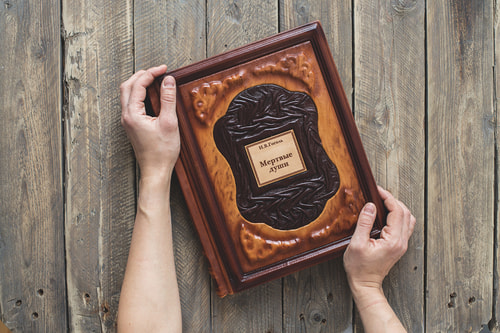 Подарочная книга в кожаном переплете. Гоголь Н.В. Мертвые души (фото, вид 6)