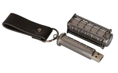 Подарочная металлическая флешка. Криптекс с кодовым замком (фото, вид 1)