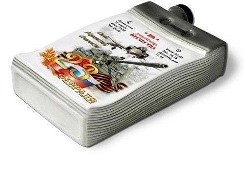 """Подарочный набор в деревянном с фарфоровым штофом """"Календарь 23 февраля"""" (фото, вид 4)"""