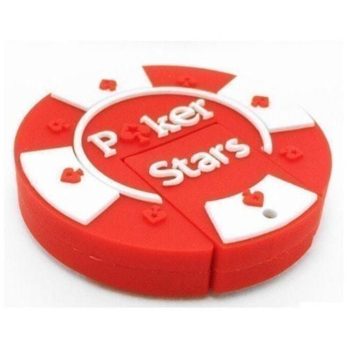 Подарочная флешка. Покерная фишка Poker Stars (цвет красный)