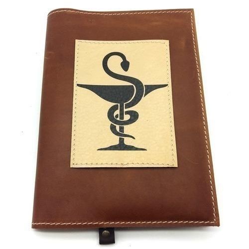 Подарочный ежедневник в кожаной обложке. Медицина - 2 (цвет коричневый) (фото)