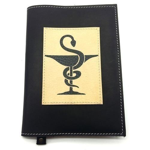 Подарочный ежедневник в кожаной обложке. Медицина - 2 (цвет черный) (фото)