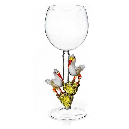 """Бокал для вина из стекла ручной работы. """"Идиллия"""""""